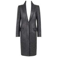 """ALEXANDER McQUEEN A/W 1998 """"Joan"""" Long Black Genuine Leather Coat Overcoat   See more vintage Coats at https://www.1stdibs.com/fashion/clothing/coats-outerwear/coats in 1stdibs"""