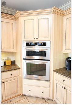 New Kitchen Corner Microwave Double Ovens 45 Ideas Kitchen Corner, Kitchen Redo, Kitchen Layout, New Kitchen, Kitchen Storage, Kitchen Remodel, Kitchen Design, Kitchen Cabinets, Rta Cabinets