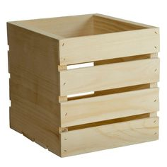 Crates And Pallet 9.5 In. X 9 In. X 9.5 In. Square Wood Crate