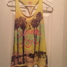 """Summer love"" tank top perfect for summer. super cute while still being comfortable Tops Tank Tops"