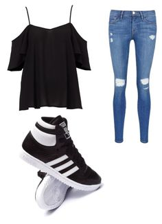 """""""Untitled #17"""" by giuliana-dametto on Polyvore featuring Frame Denim and adidas"""