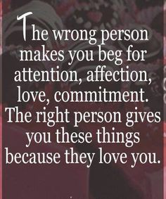 The right person gives you because he loves you