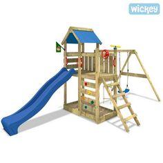 Spielturm Wickey MultiFlyerKletterturm mit Schaukel und Kletterwand