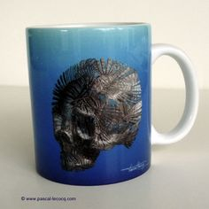 CURSE OF THE CARIBBEAN (right) , a mug from the painting by Pascal, The Painter of Blue ®, © www.pascal-lecocq... $10.50