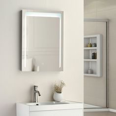 SUNNY SHOWER LED Lighted Bathroom Backlit Vanity Mirror w/ Touch Button MS0130-3224F
