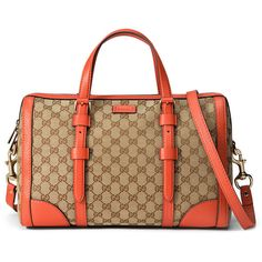 Gucci Linea A Medium Canvas Tote Bag ($1,850) ❤ liked on Polyvore