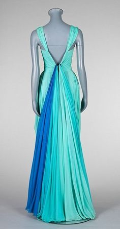 A striking Jean Dessès draped chiffon evening gown, 'Silhouette' collection, Spring-Summer 1951