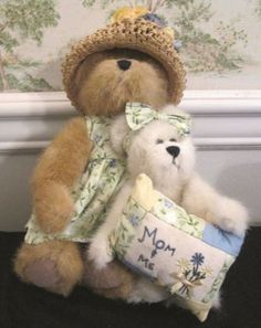 Boyds-Bear-82507-Momma-Bearhugs-And-Tory-Mom-And-Me-Best-Dressed-Series