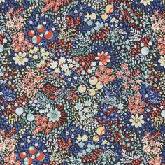 Liberty Fabrics' Elderberry is lustrously detailed and rich in colour – printed in Liberty's Italian fabric mill, on our inimitable Tana Lawn cotton. Shop to discover Liberty print cotton fabric. Liberty Print, Liberty Fabric, Motif Floral, Ditsy Floral, Floral Print Fabric, Surface Design, Blouse Liberty, Flower Patterns, Print Patterns