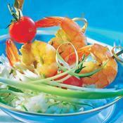 Crevettes marinées au sirop d'agave - une recette Allégé - Cuisine