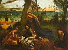 Pre-Raphaelite Arthurian Paintings | Pre-Raphaelite images of the middle ages