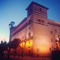 Anochece en la Casa Palacio de los Luna, mandada construir por Pedro Martinez de Luna, primer Conde de Morata y Virrey de Aragon #zaragozaguia #zaragoza #regalazaragoza #zaragozapaseando #zaragozaturismo #zaragozadestino #miziudad #zaragozeando #mantisgram #magicaragon #loves_zaragoza #loves_aragon #igerszaragoza #igerszgz #igersaragon #instazgz #instamaños #instazaragoza #zaragozamola