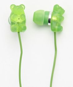 Take a look at this Green Apple Gummy Bear Scented Earbuds by Gummy Bears on #zulily today!