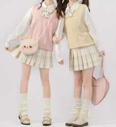Pastel Fashion, Cute Fashion, Fashion Outfits, Harajuku Fashion, Lolita Fashion, Cute Casual Outfits, Pretty Outfits, School Uniform Outfits, Korean Outfits School