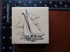 new PSX G-1479 SAILBOAT YACHT ON WATER / NAUTICAL rubber stamp
