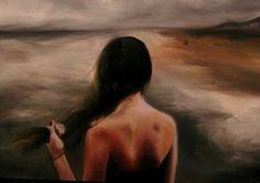 "Dagmar Hrickova; Painting, ""ocean"""