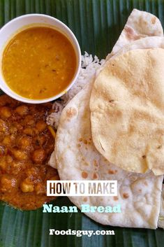 This naan bread recipe is simple and can be made at home. Naan bread is a traditional Indian bread. It is a type of flatbread that you make in a skillet. It is not a just flatbread, but also a soft and pliable type of bread. #naanbread#naanrecipe Make Naan Bread, How To Make Naan, Recipes With Naan Bread, Naan Recipe Without Yogurt, Types Of Bread