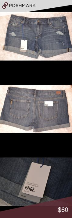 Paige Jimmy Jimmy Shorts NWT, never worn! Jimmy Jimmy Barnes Destructed shorts. Perfect to wear in the summer! Size 32. PAIGE Shorts Jean Shorts