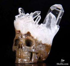 Quartz Cluster/Points on Matrix Carved Skullis Skull. :) Very cool!    How dang radical?!!