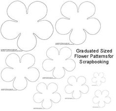 Free Paper Cutting Patterns | Torn Paper Flowers for Scrapbooking - DIY Flower Scrapbook Page ...