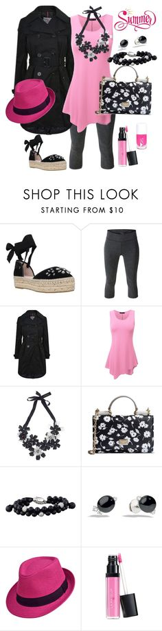 """""""Pink & Black & Flowers"""" by happychristy ❤ liked on Polyvore featuring Carvela, MANGO, Moncler, Doublju, Forest of Chintz, Dolce&Gabbana, David Yurman, Pomellato and Laura Geller"""