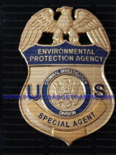 EPA Special Agent badge. Available from www.policebadgetrader.com