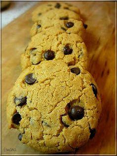 Limara péksége: Mogyoróvajas csokis keksz Bakery, Lime, Chips, Bread, Cookies, Recipes, Food, Crack Crackers, Limes