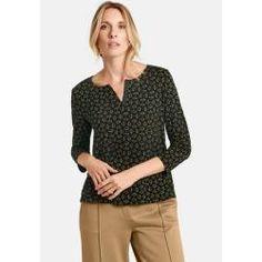46 oder 50 Feminine Wickeltunika Long Tunika in Wickel Optik Shirt schwarz Gr