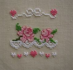 Find this Pin and more on Cross Stitch Roses. Cross Stitch Pictures, Cross Stitch Heart, Cross Stitch Borders, Cross Stitch Alphabet, Cross Stitch Flowers, Cross Stitch Designs, Cross Stitching, Cross Stitch Embroidery, Embroidery Patterns