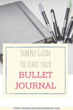 A short and simple guide to starting your bullet journal journey, plus keys to making the system that works for you! Read on to find 3 simple steps on how to start a bullet journal #bulletjournal #startyourbujo Bullet Journal Quotes, Bullet Journal How To Start A, Down Quotes, Cute Notebooks, Write It Down, Pen And Paper, Page Layout, Scribble, Keys