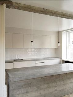 Spotted (and admired) in a kitchen remodel in West London by architects Feilden Fowles; a pair of deceptively simple GAS Light pendants from hardware purveyor I