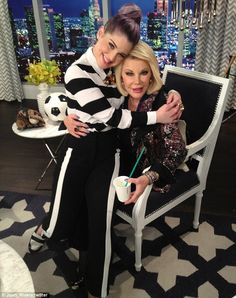 Daily Fashion News - Welcome back! Joan Rivers was delighted to see Kelly Osbourne back on the set of Fashion Police