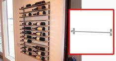 Baue dir dein eigenes Weinregal – ganz einfach mit dem GRUNDTAL-Handtuchhalter von Ikea.