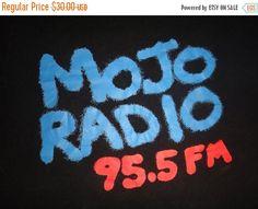 Vintage MOJO 95.5 FM Radio Channel T Shirt by TwistedFabrics