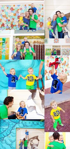 Why can't more people be this COLORFUL!!!!! Twin Urban Family Session // Gilbert Child Photographer