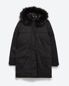 Image 8 of LONG QUILTED PARKA from Zara