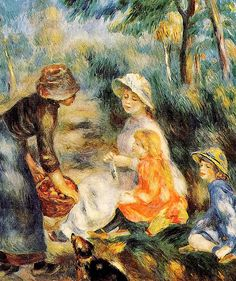 Pierre Auguste Renoir (French painter, 1841-1919)  The Apple Seller.
