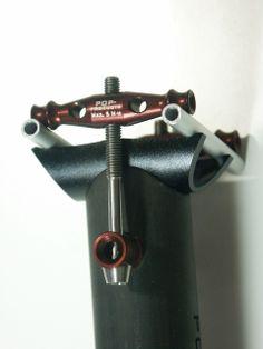 POP-Products UD Carbon Sattelstütze 30,9x425 mm, Aluminium-Titan Setup in Braun.