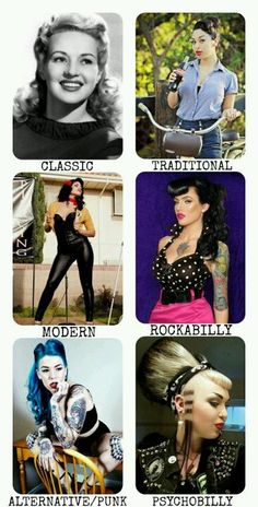 Pin up styles. I would only rock the classicand traditional pin up looks