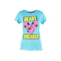 Abbey Dawn Heartbreaker Women's T-Shirt ($31) ❤ liked on Polyvore featuring tops, t-shirts, abbey dawn, shirts, blue shirt, tee-shirt, blue top, t shirt and shirt top