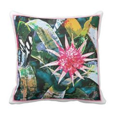 Prickly Bromie Pillow is ideal for your environmentally sensitive decor. Relaxing with this pillow will soothe your tired body and put your spirit at ease. 25% OFF All Orders – Use Checkout CODE: FRIENDZNFAMZ 'til Midnite 10-20-16. Over 2800 products at my Zazzle online store. Open 24/7  World wide! Custom one-of-a-kind items shipped to your door. This art is exclusively @  http://www.zazzle.com/greg_lloyd_arts*?rf=238198296477835081