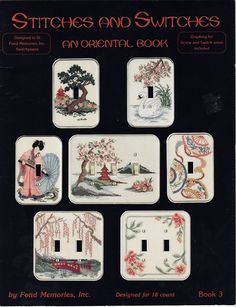 Fond Memories STITCHES and SWITCHES - An Oriental Book 3 Counted Cross Stitch #FondMemories #WallSwitches