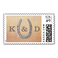 Rustic Horseshoe Wedding Stamps Stamps