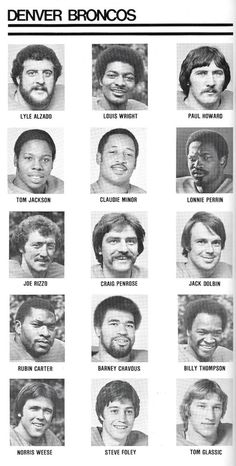 The 1977 Broncos Orange Crush Class - pretty cool history Denver Broncos Football, Broncos Fans, Cincinnati Bengals, Pittsburgh Steelers, Dallas Cowboys, School Football, Houston Texans, Bronco Sports, Nfl Sports