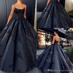 Long Backless Evening Dress Ball Gowns Sexy Spaghetti Strap Prom Party Dresses Plus Size Custom Made Lace Appliques Satin Formal Black Gown Evening Ball Dresses Evening Designer Dresses From Irose_wedding, $176.89| Dhgate.Com