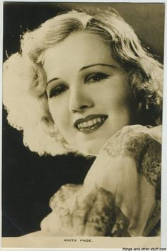 Image: Anita Page Film Weekly Postcard Hollywood Stars, Classic Hollywood, Silent Screen Stars, We Run The World, Sister Keeper, Cinema, Famous Photos, Most Beautiful Faces, Female Stars