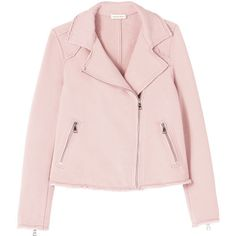 Cozy Knit Moto Jacket ($139) ❤ liked on Polyvore featuring outerwear, jackets, coats, pink motorcycle jacket, knit moto jacket, slim fit jacket, knit biker jacket and rider jacket