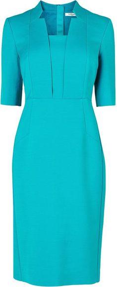 L.K. Bennett Ross Notch Collar Fitted Dress