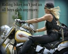 Riding bikes is not just an all boys club anymore.