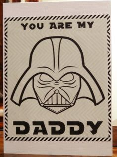 father's day card darth vader